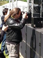 Foto-Wolle bei der Arbeit auf dem Metal Bash 2014